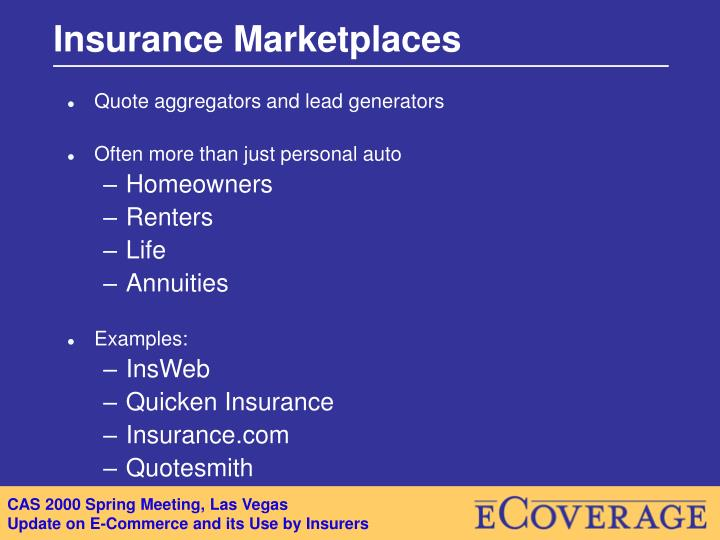 Insurance Marketplaces