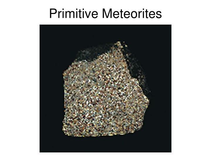 Primitive Meteorites