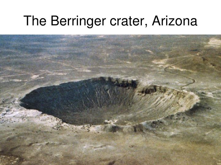 The Berringer crater, Arizona