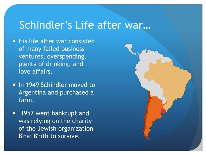 Schindler's Life after war…