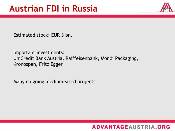 Austrian FDI in Russia