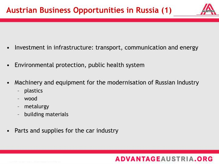 Austrian Business Opportunities in Russia (1)