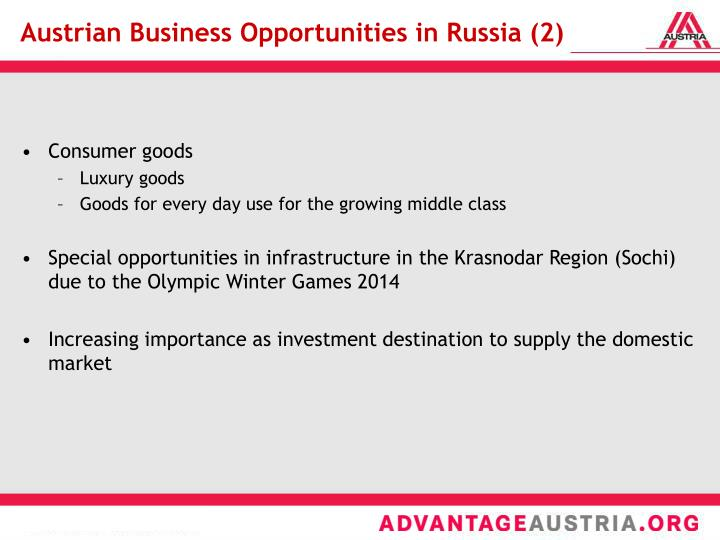 Austrian Business Opportunities in Russia (2)