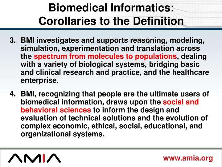 Biomedical Informatics: