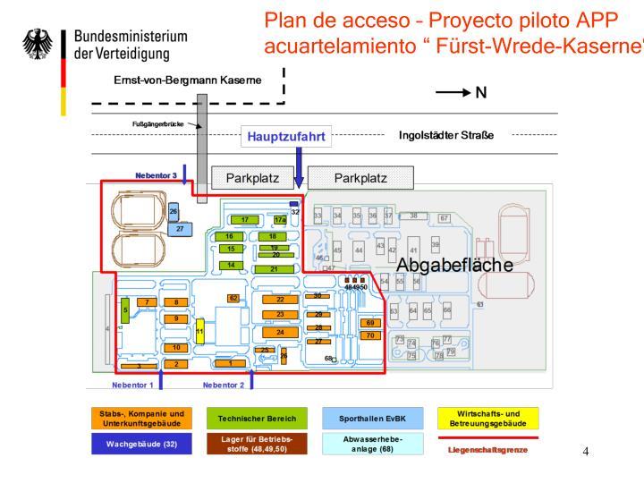 Plan de acceso – Proyecto piloto APP
