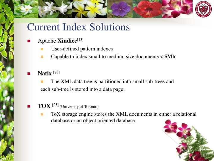 Current Index Solutions