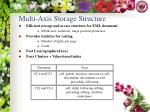 multi axis storage structure