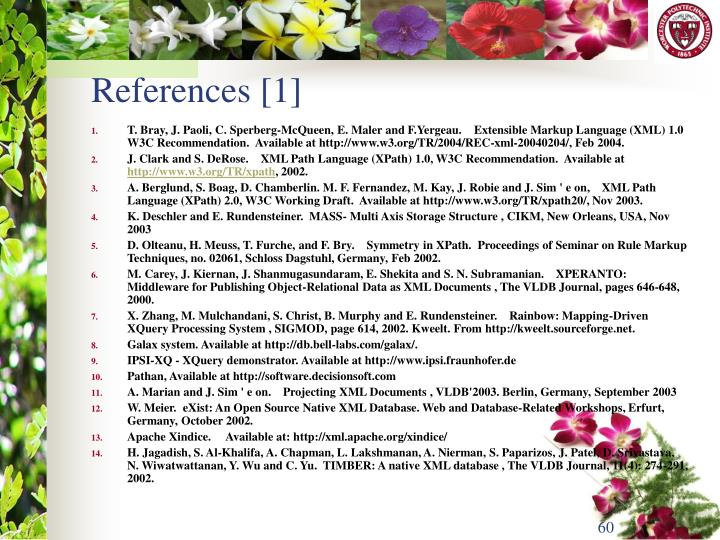 References [1]