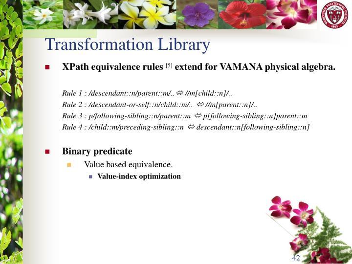 Transformation Library