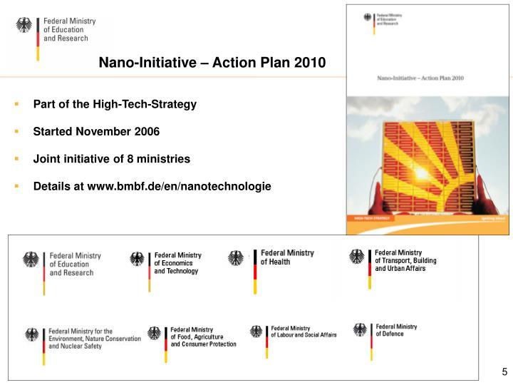 Nano-Initiative – Action Plan 2010