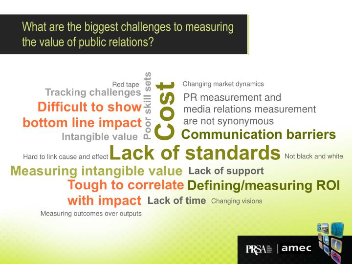 What are the biggest challenges to measuring the value of public relations?