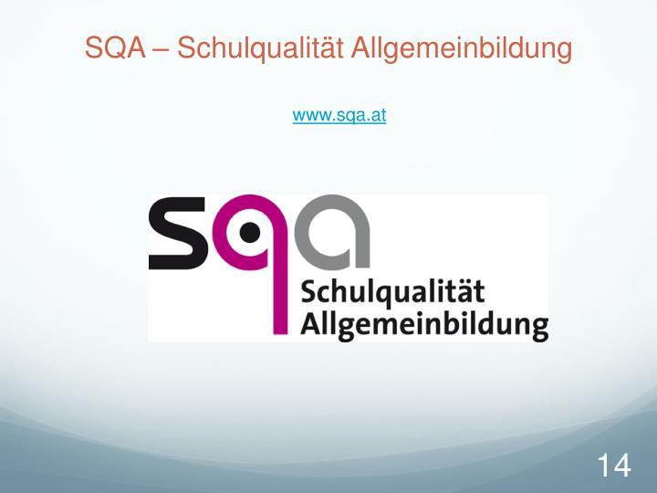 SQA – Schulqualität Allgemeinbildung