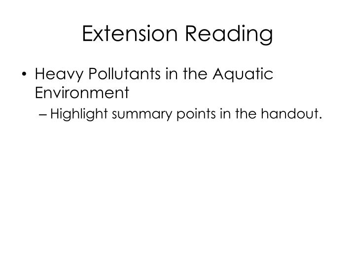 Extension Reading