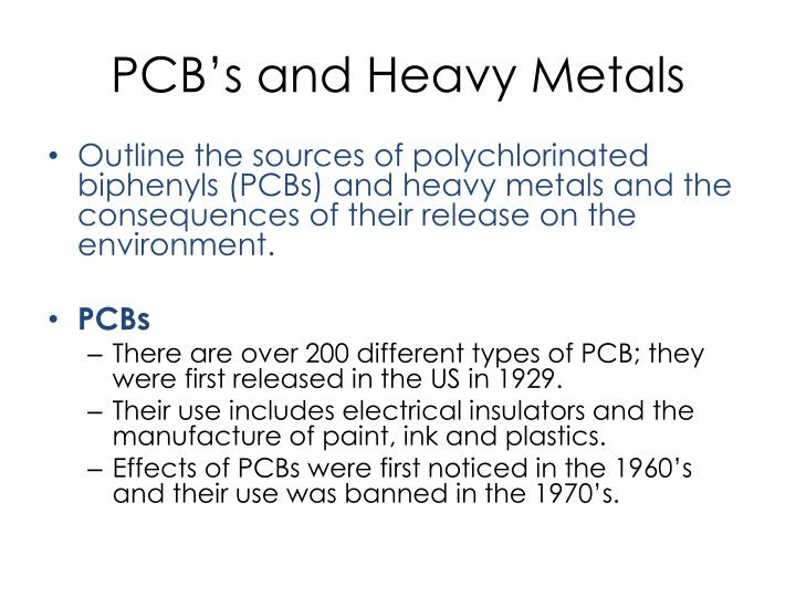 PCB's and Heavy Metals