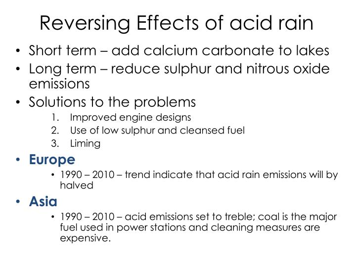 Reversing Effects of acid rain