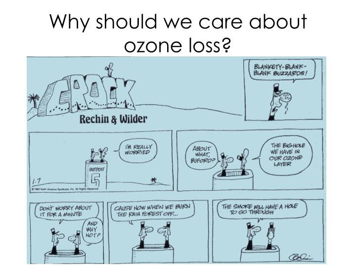 Why should we care about ozone loss?
