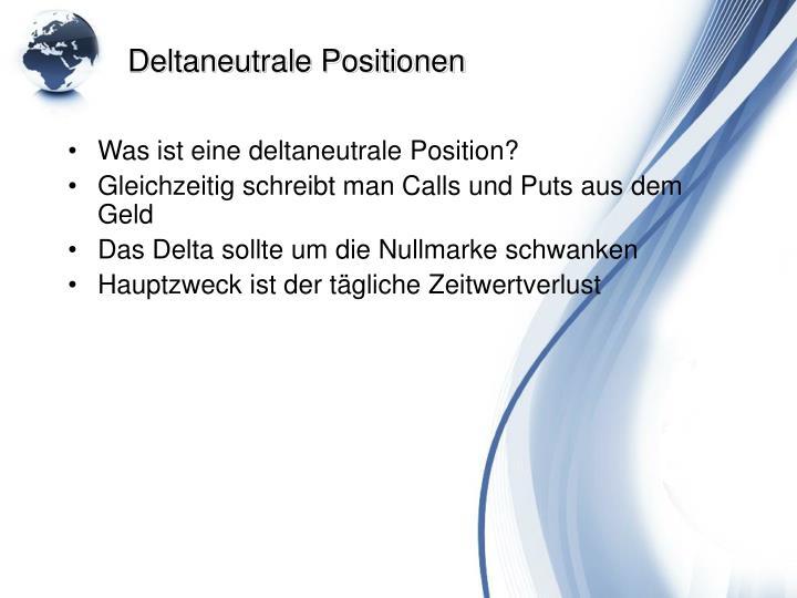 Deltaneutrale Positionen