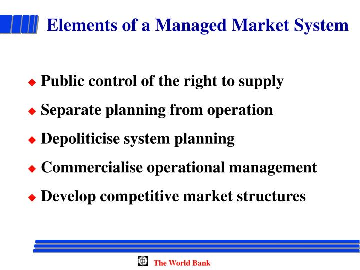 Elements of a Managed Market System