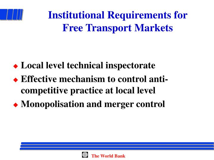 Institutional Requirements for