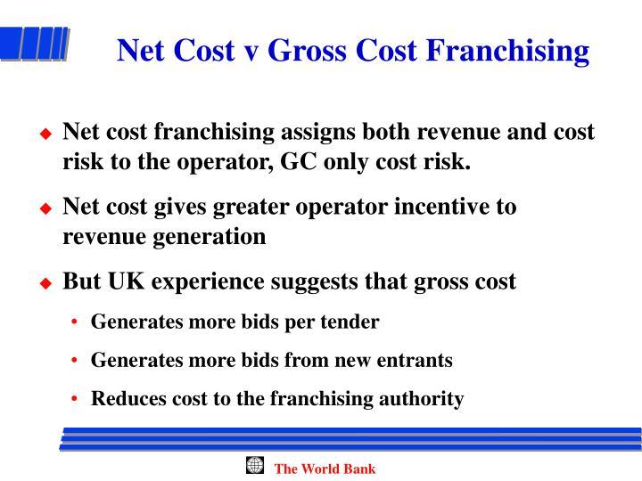 Net Cost v Gross Cost Franchising