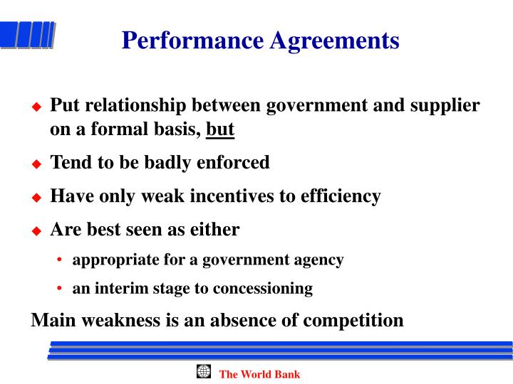 Performance Agreements
