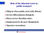 role of the informal sector in public transport