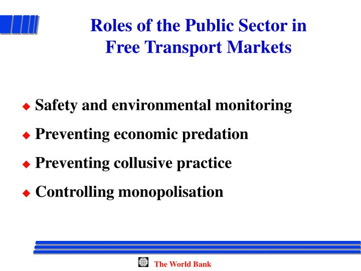 Roles of the Public Sector in