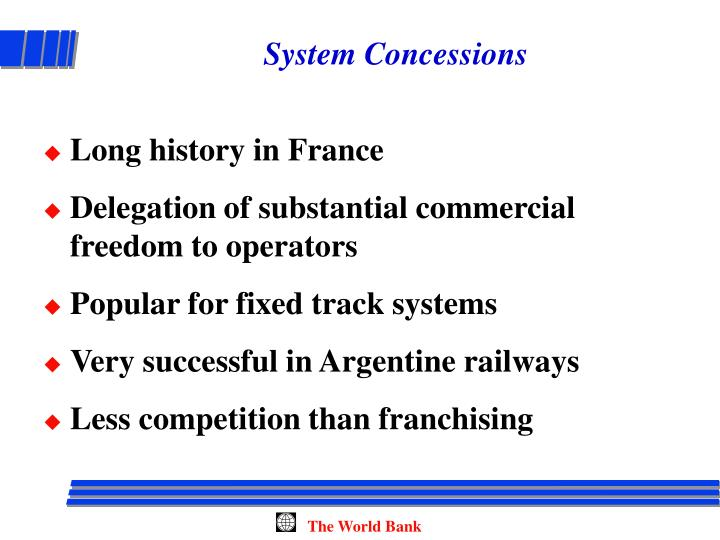 System Concessions