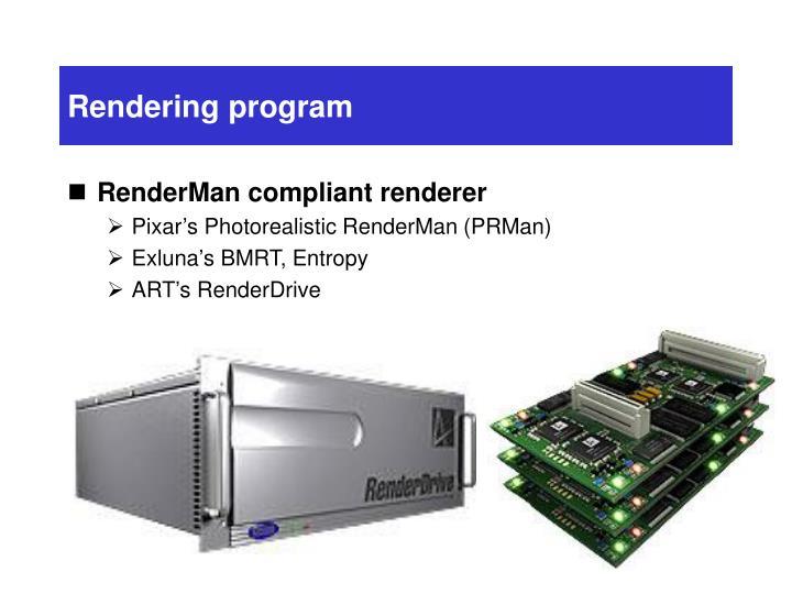 Rendering program