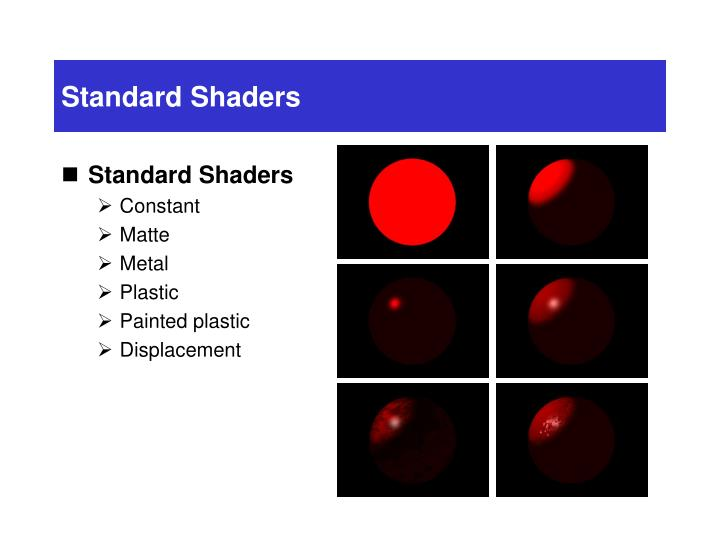 Standard Shaders