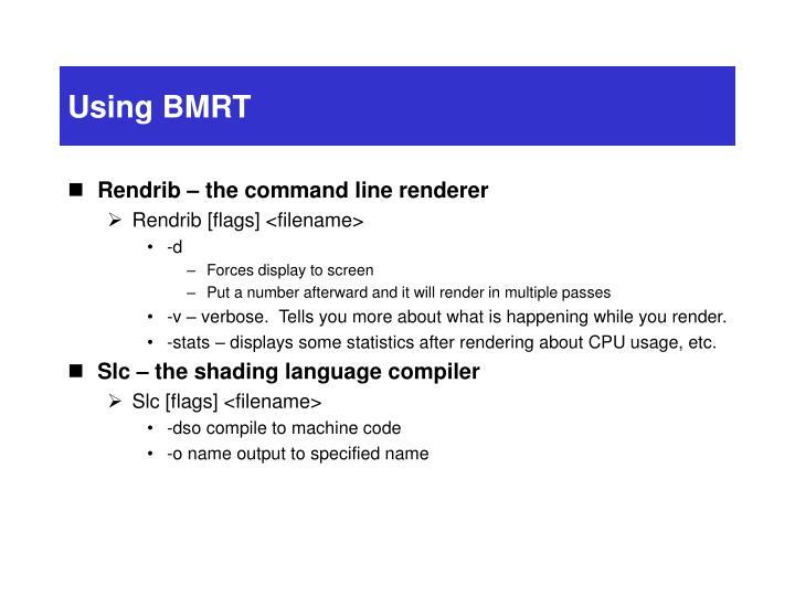 Using BMRT