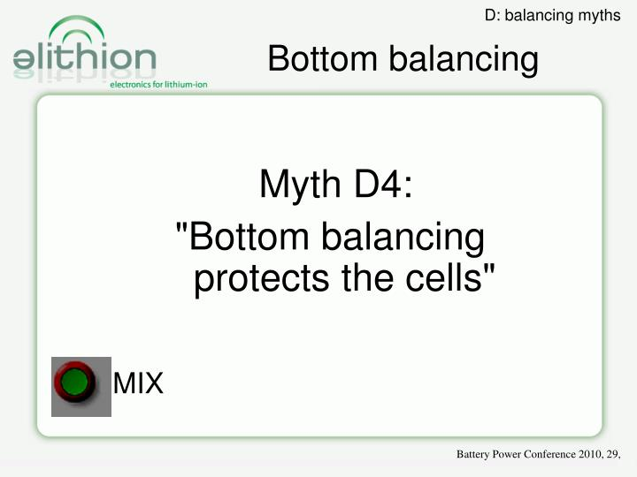 Bottom balancing