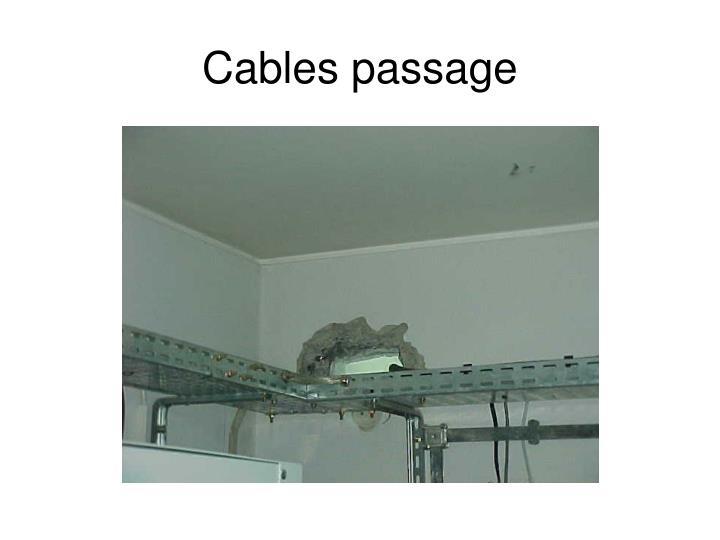 Cables passage