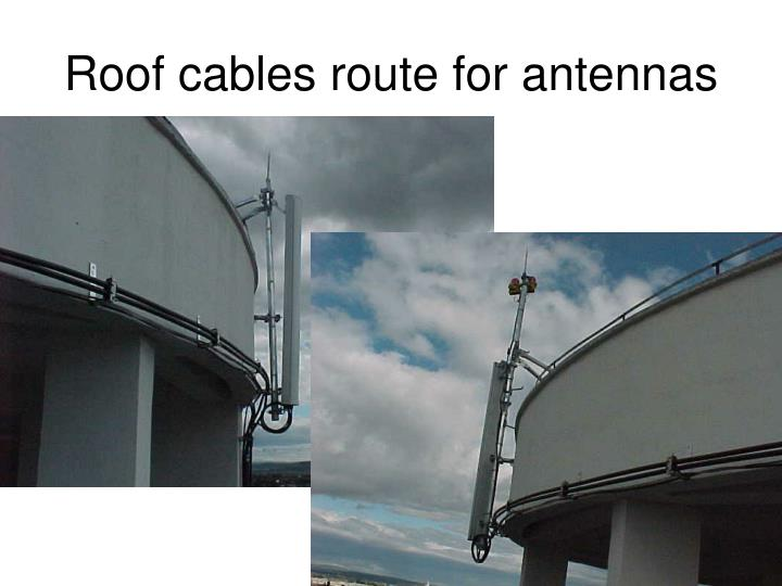 Roof cables route for antennas