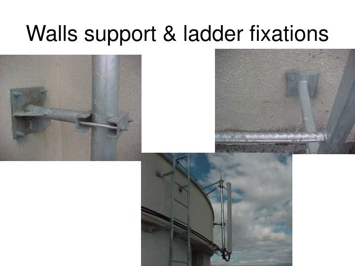 Walls support & ladder fixations