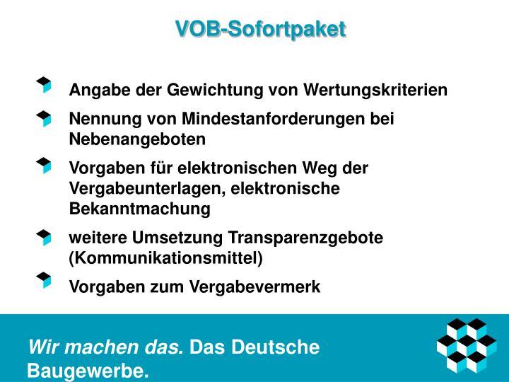 VOB-Sofortpaket