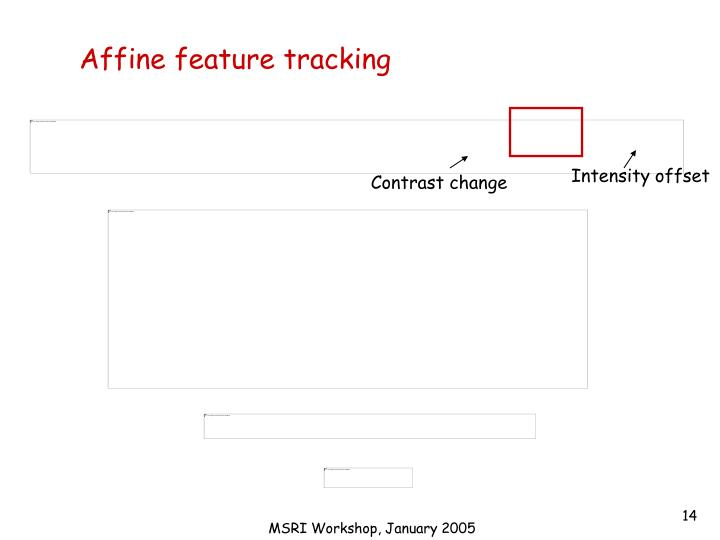 Affine feature tracking