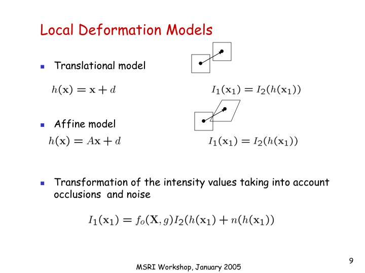 Local Deformation Models