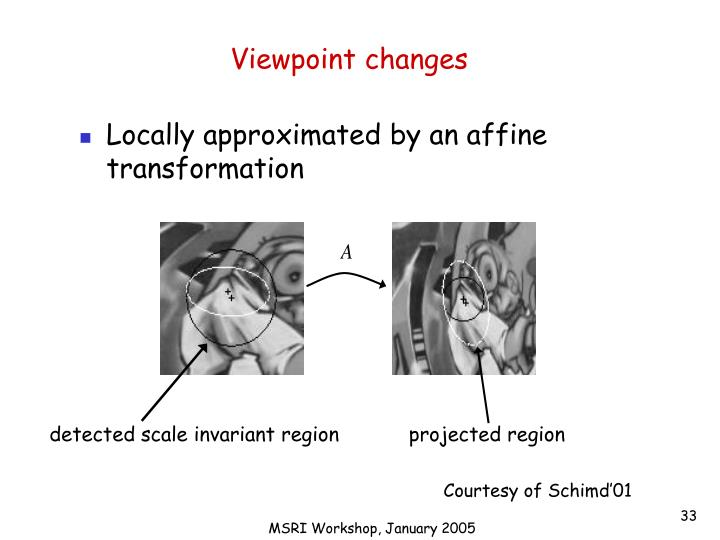Viewpoint changes
