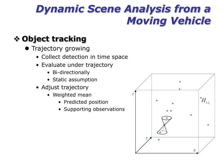Dynamic Scene Analysis from a Moving Vehicle