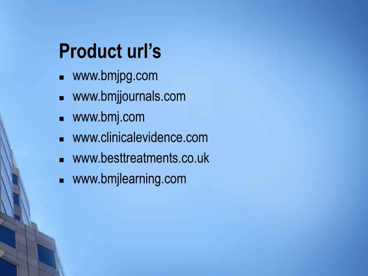 Product url's
