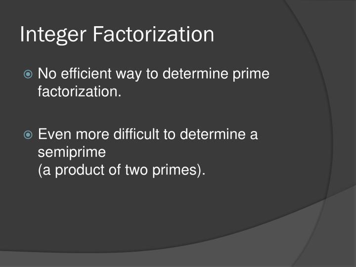 Integer Factorization