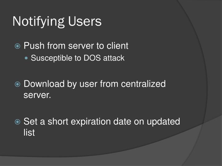 Notifying Users