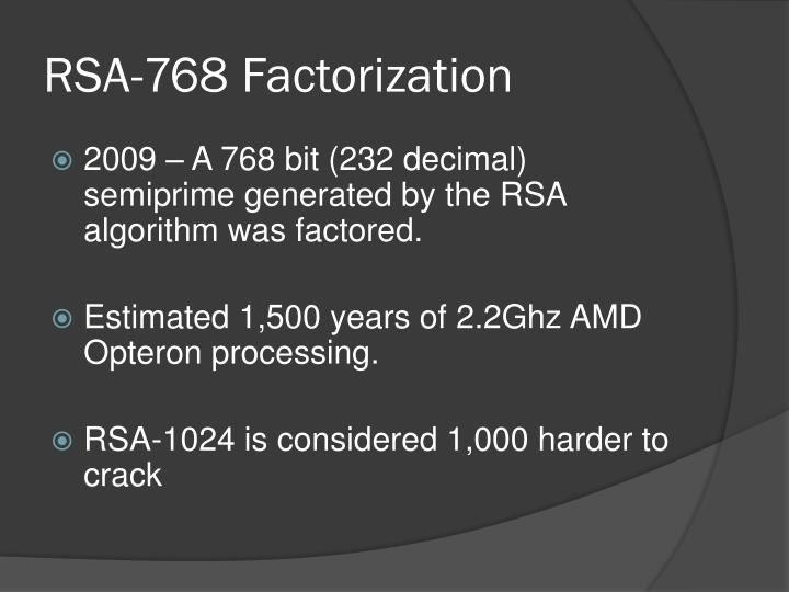 RSA-768 Factorization