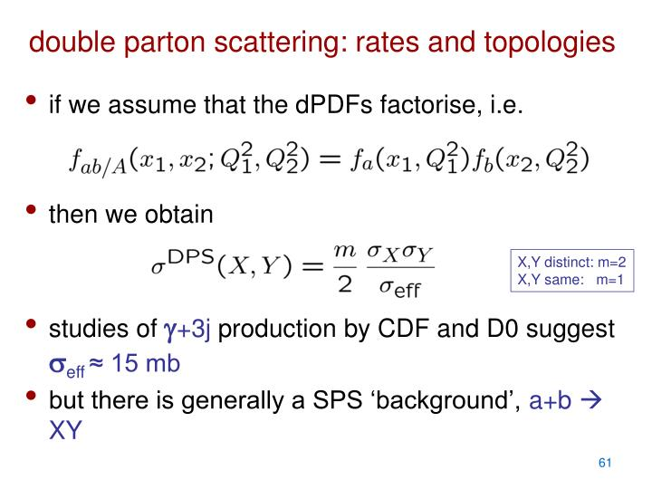 double parton scattering: rates and topologies
