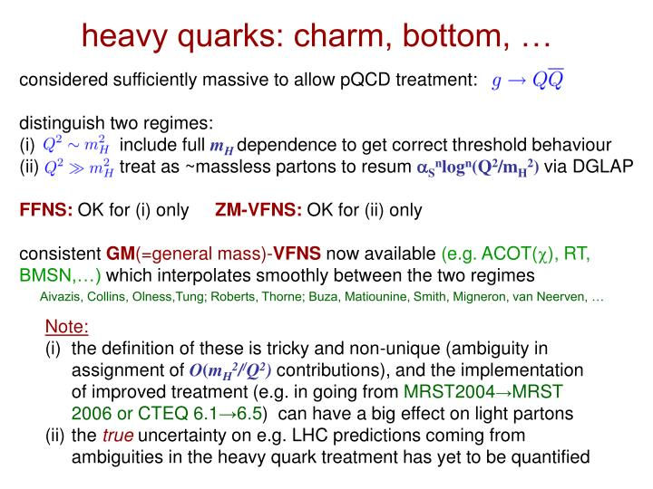 heavy quarks: charm, bottom, …