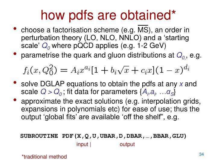 SUBROUTINE PDF(X,Q,U,UBAR,D,DBAR,…,BBAR,GLU)