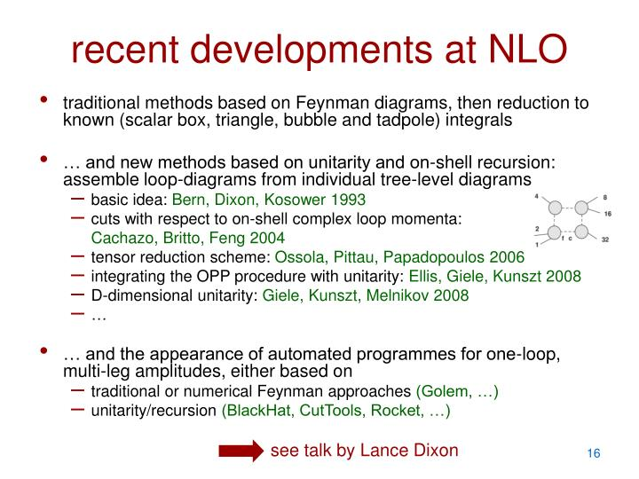 recent developments at NLO