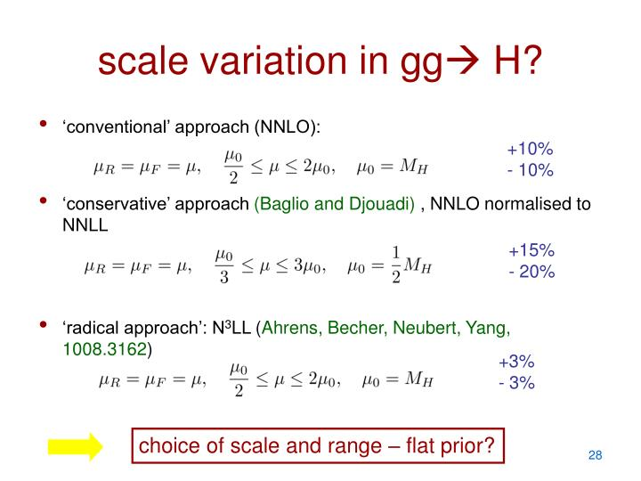 choice of scale and range – flat prior?