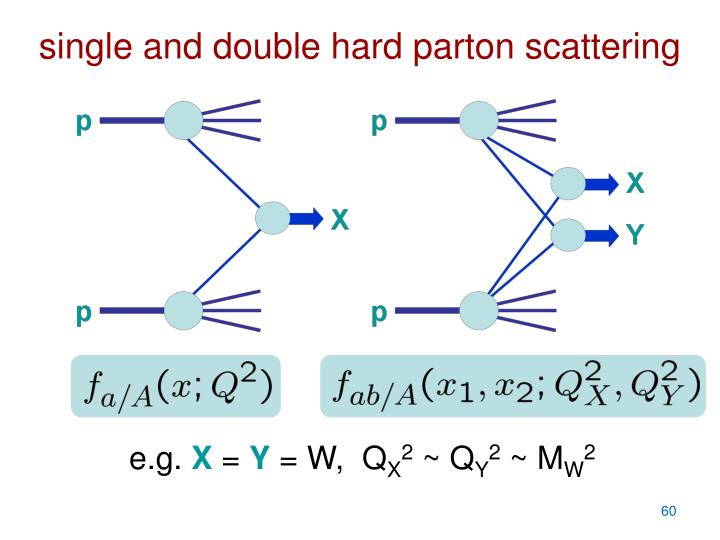 single and double hard parton scattering